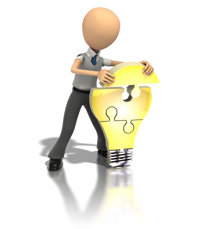 Clipart - Idea Light Bulb Puzzle