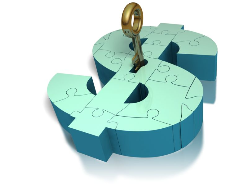 Clipart - Key Insert Lock Money Puzzle