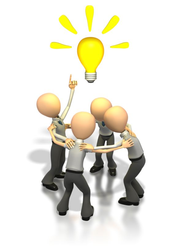 Clipart - Brainstorming Idea