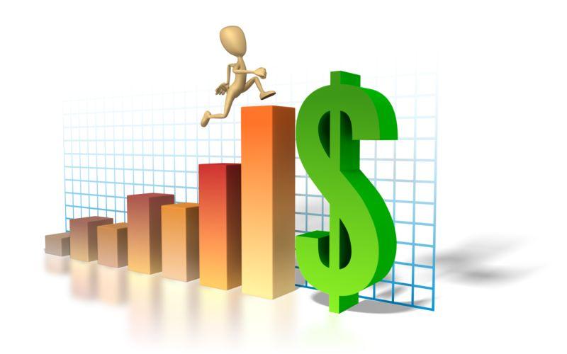 Clipart - Graph Money Man Running Up