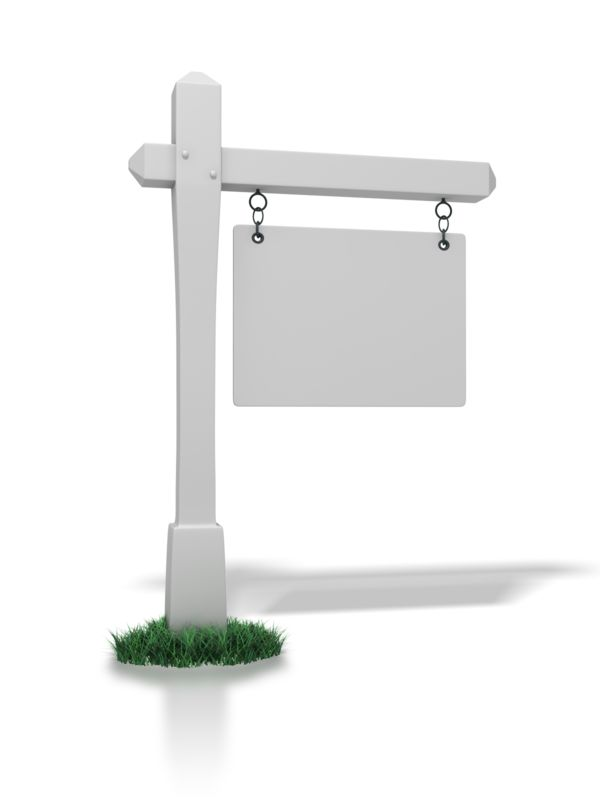 Clipart - Real Estate Sign Blank