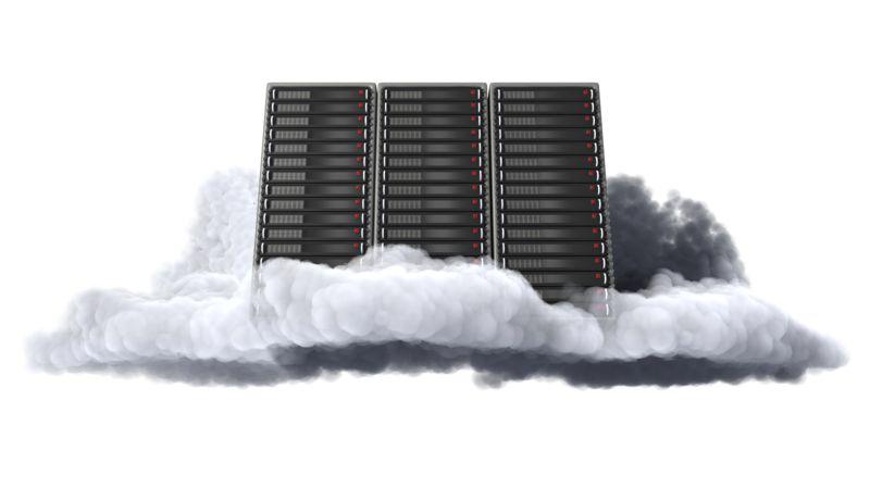 Clipart - Cloud Computer Server