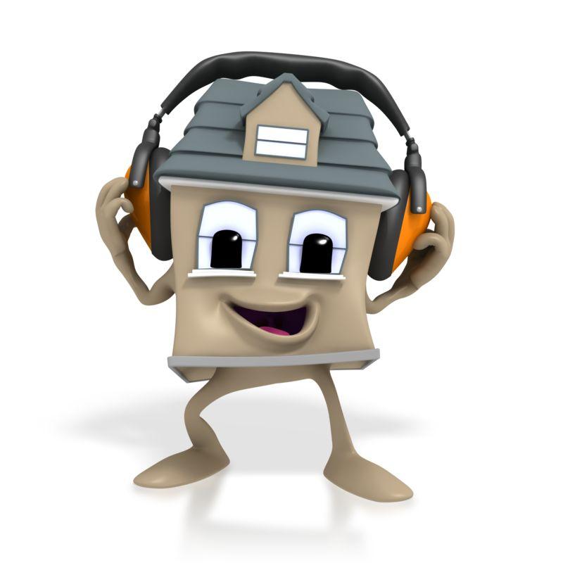 Clipart - House Headphone