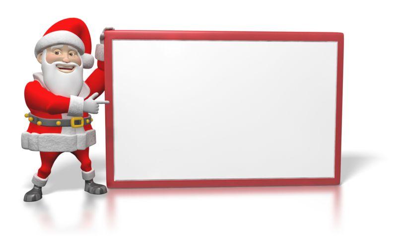 Clipart - Santa Sign Large