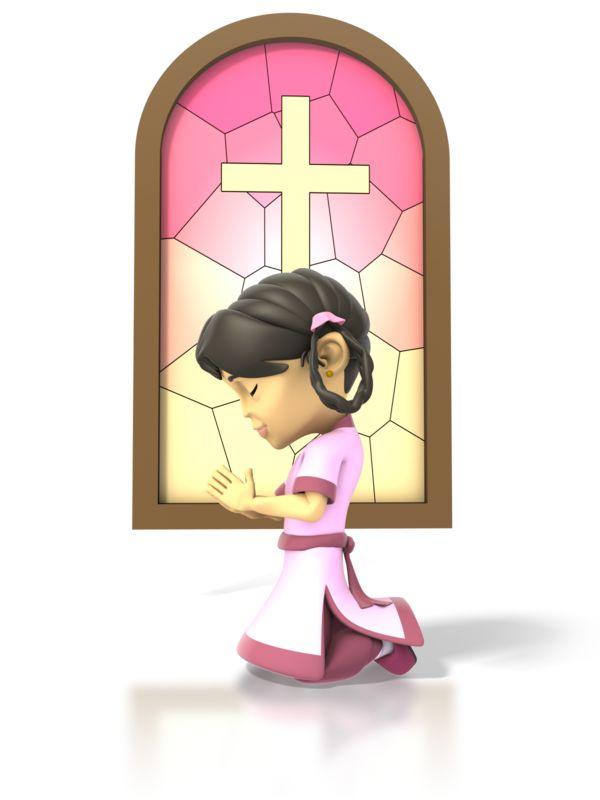 Clipart - Girl Pray
