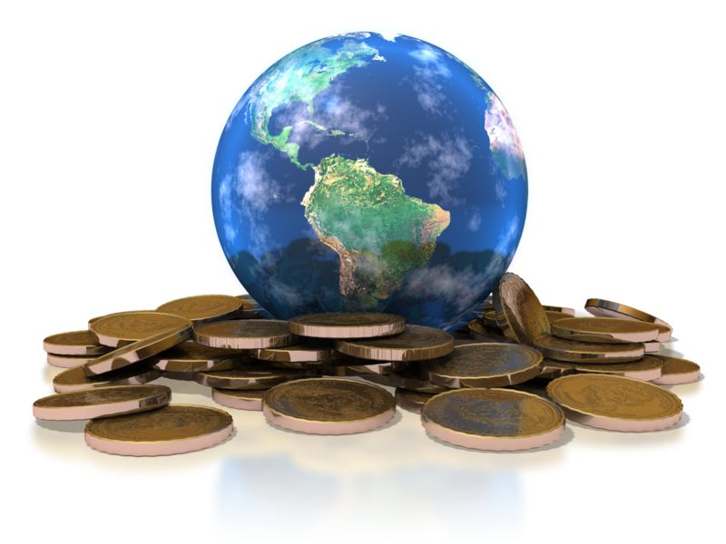 Clipart - Earth Gold Coins