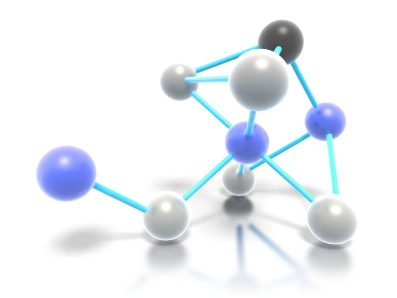 Clipart - Connected Molecules