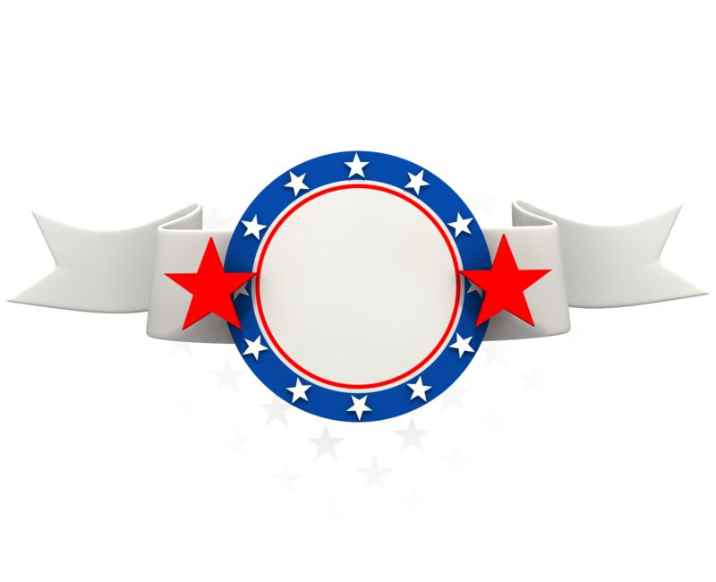 Clipart - Patriotic Red White Blue Banner