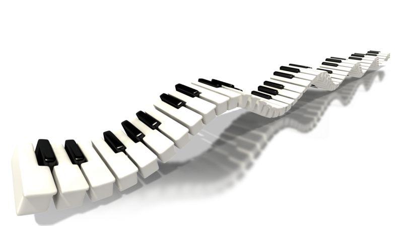Clipart - Piano Keys Long Wave