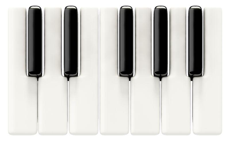 Clipart - Piano Keys Basic