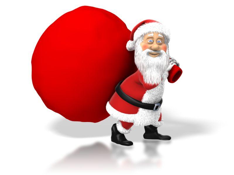 Clipart - Santa Big Bag