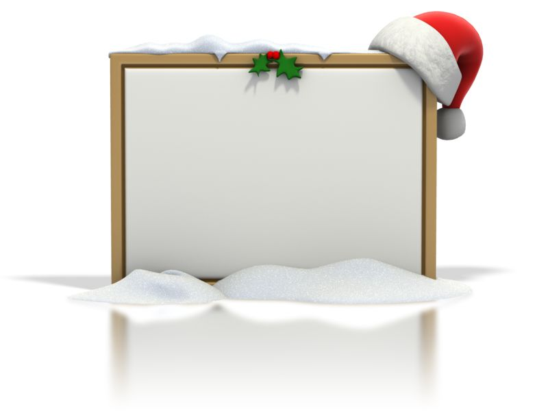 Clipart - Christmas Seasonal Blank Snow Board