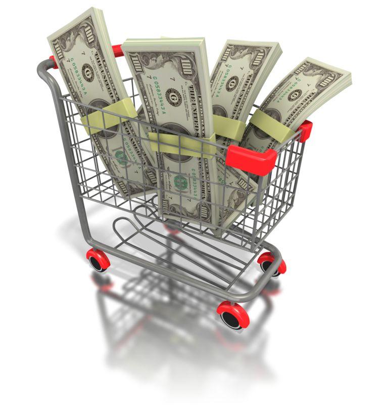 Clipart - Shopping Cart Money