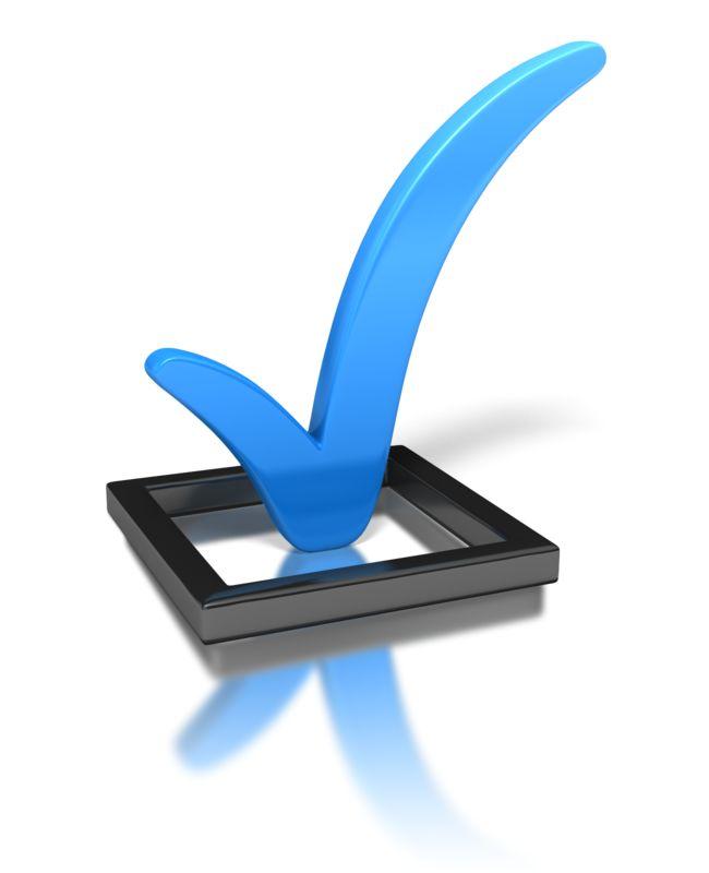 Clipart - Blue Check Mark In Box