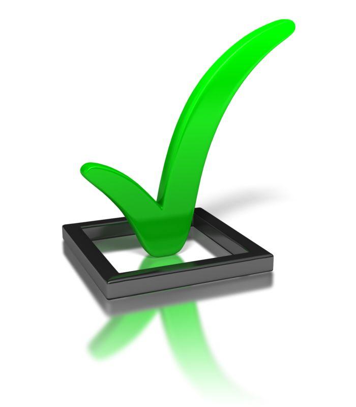 Clipart - Green Check Mark In Box
