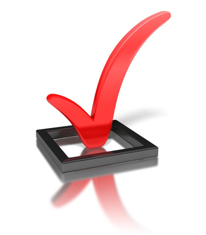 Clipart - Red Check Mark In Box
