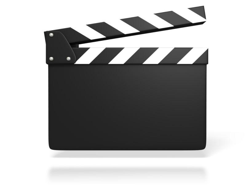 Clipart - Blank Film Slate or Clapboard