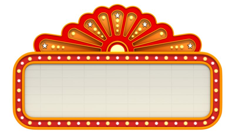 Clipart - Classic Movie Theater Marquee