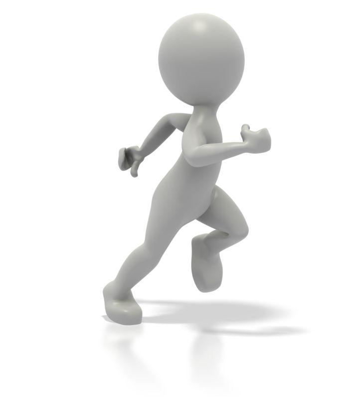 Clipart - Single Stick Figure Runner