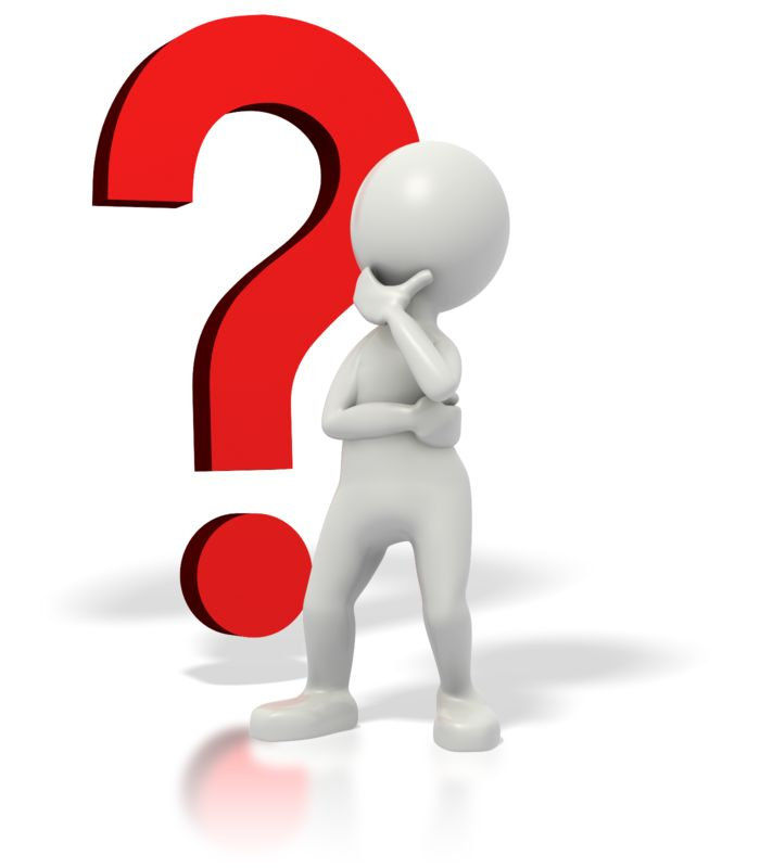 Clipart - Stickman Question Mark Thinking