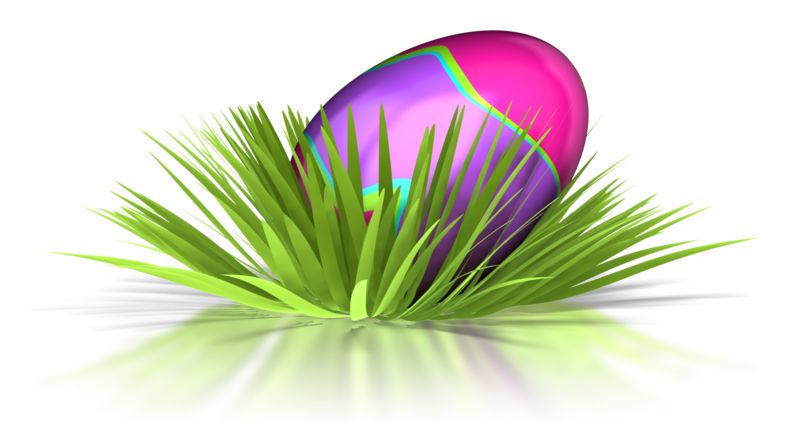 Clipart - Retro Easter Egg In Grass