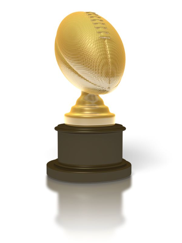 Clipart - Gold Football Trophy