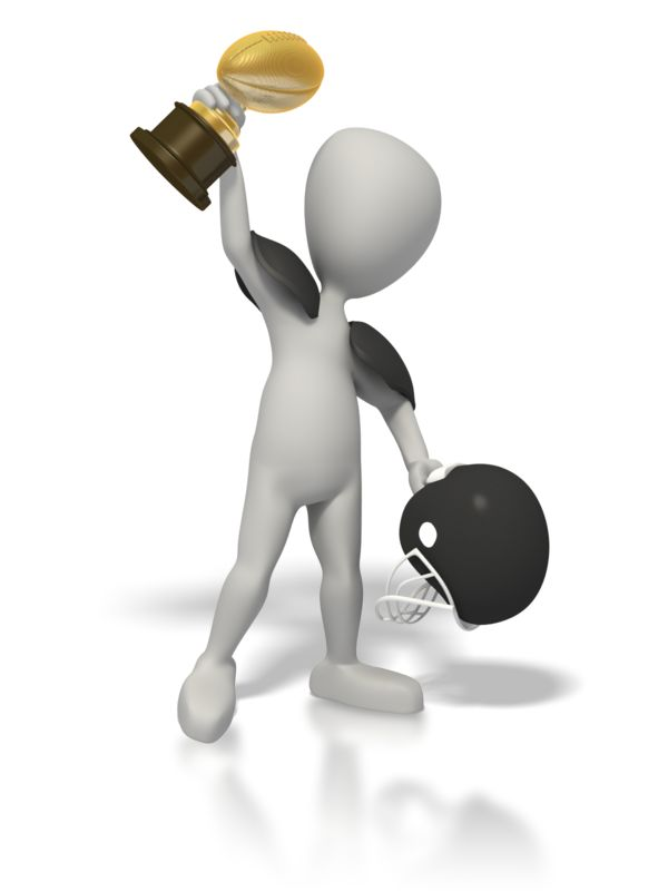 Clipart - Football Champion with Trophy