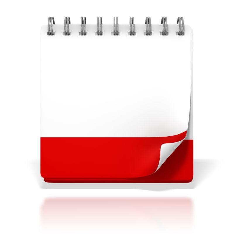 Clipart - Blank Office Desk Calendar
