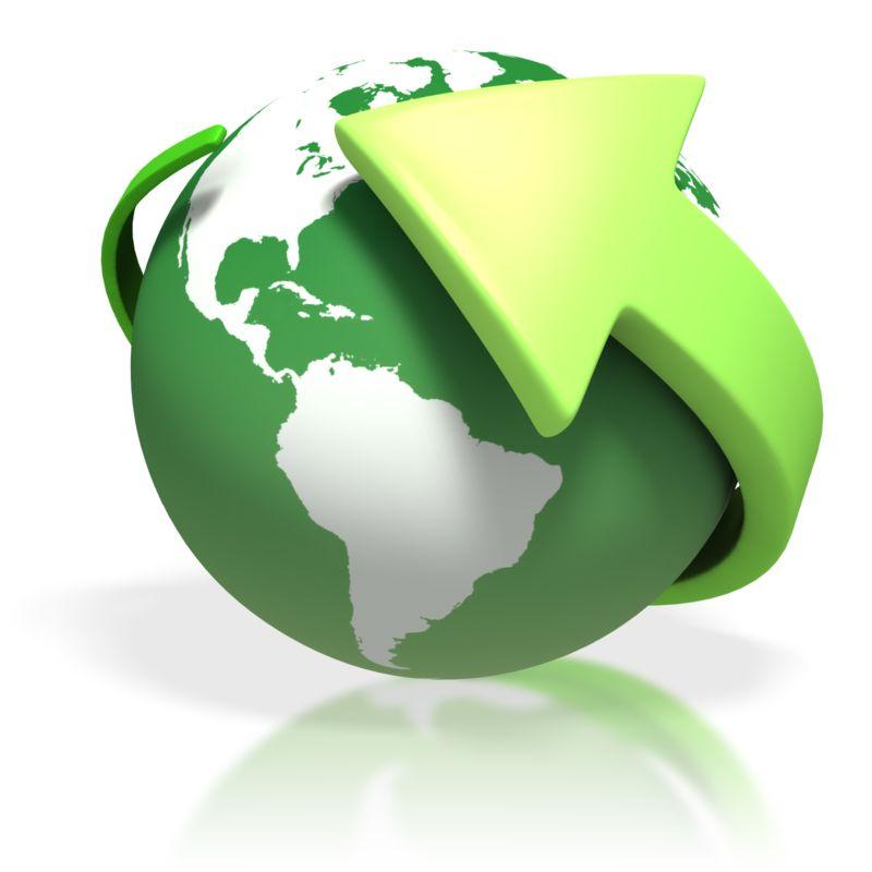 Clipart - Green Earth Round Arrow