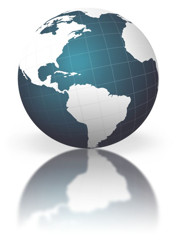 Clipart - Blue Globe With Graph