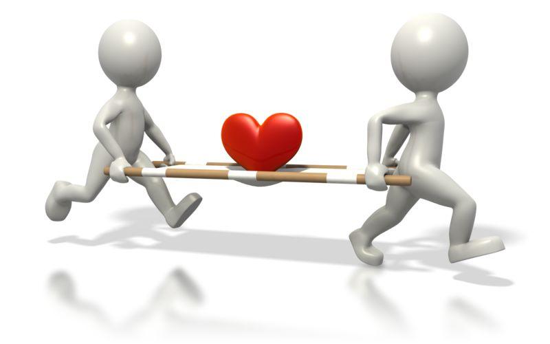 Clipart - Medics Carrying Heart Stretcher