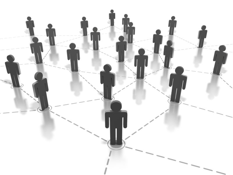 Clipart - Networking People Connection