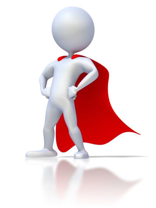 Clipart - Stick Figure Superhero