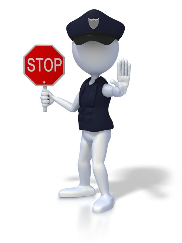 Clipart - Police Officer Stop