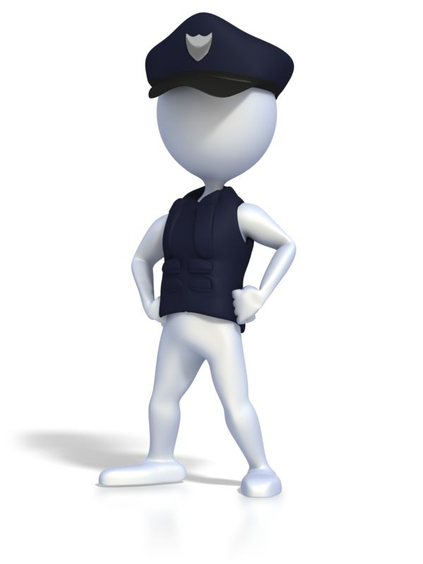 Clipart - Police Officer Strong Pose