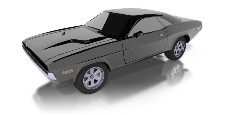 Clipart - Super Black Classic Car
