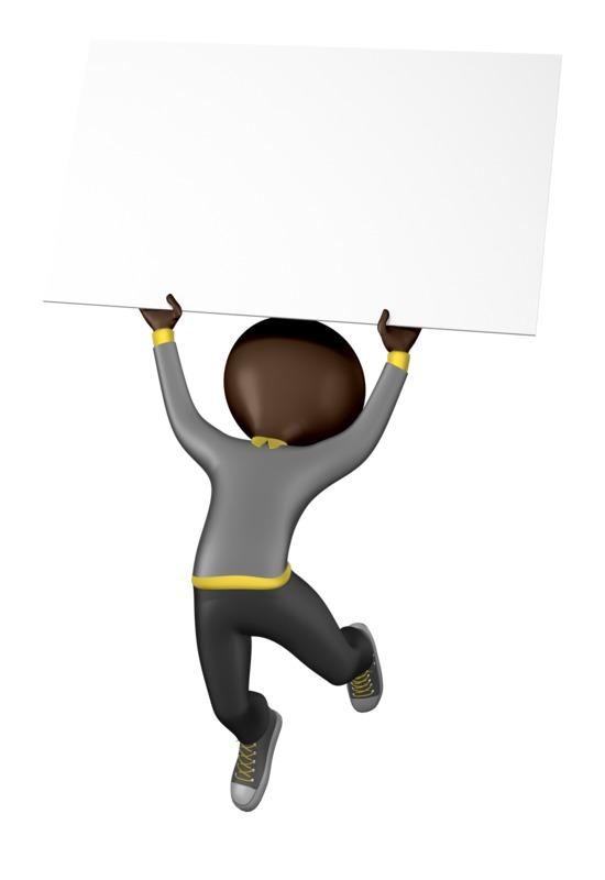 Clipart - Stick Figure Jump Sign