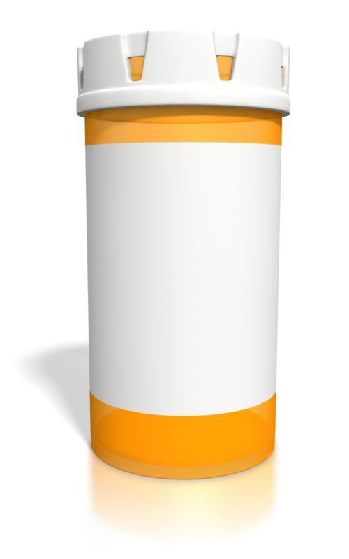 Clipart - Blank Orange Pill Bottle