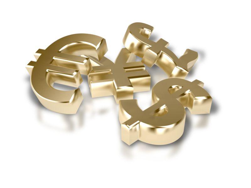 Clipart - Pile of Financial Money Symbols
