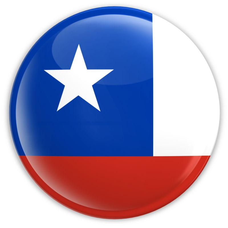 Clipart - Badge of the Chile Flag