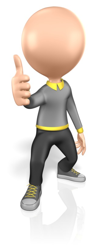 Clipart - Stick Figure Thumbs Up