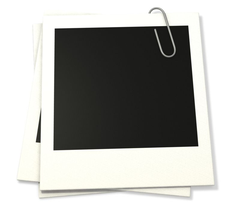 Clipart - Paper Clip Attached To Photographs