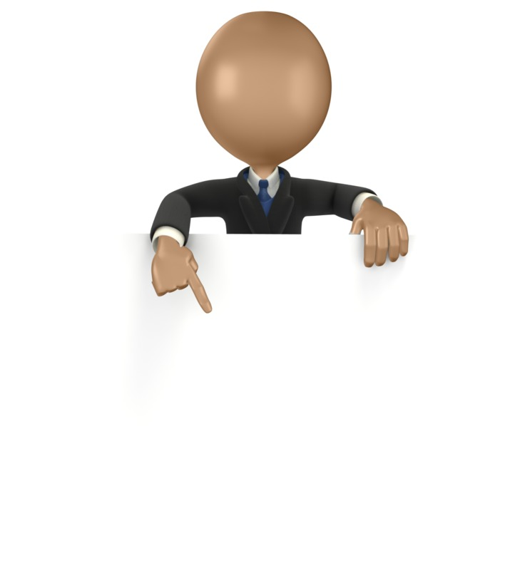 Clipart - Business Man Sign Point