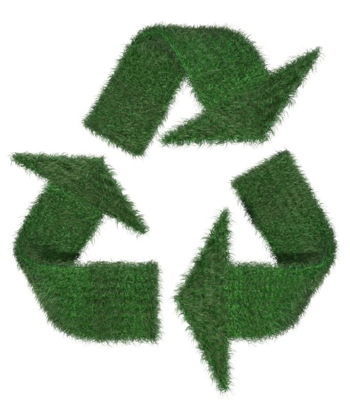Clipart - Grass Recycle Symbol