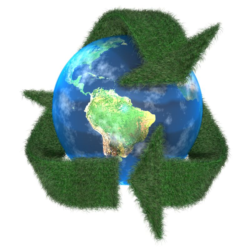 Clipart - Grass Earth Recycle Symbol