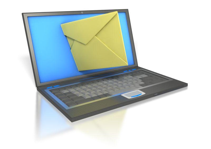 Clipart - Laptop Internet Mail