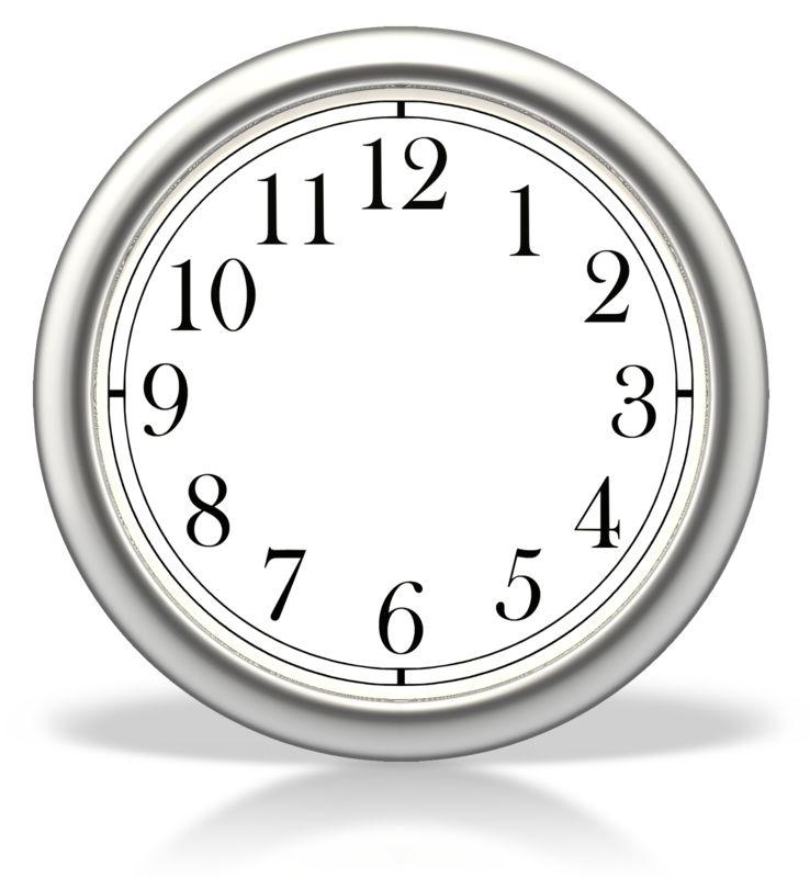 Clipart - Blank Clock