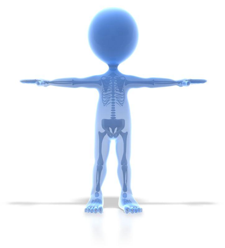 Clipart - Stick Figure X Ray