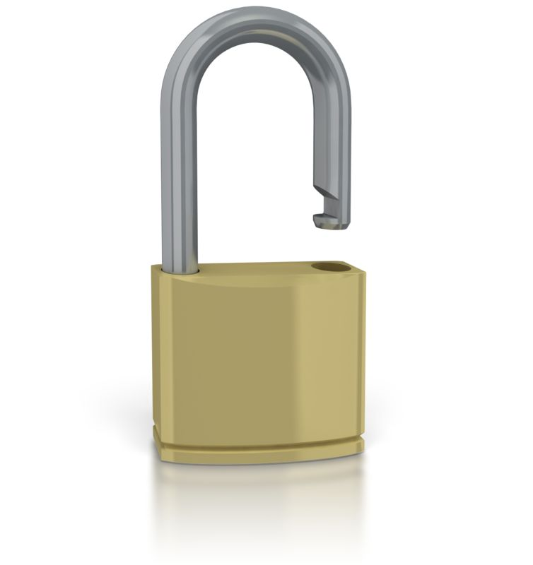 Clipart - Unsecure Lock