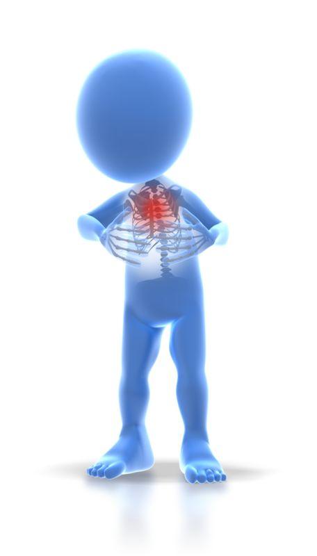 Clipart - Stick Figure Chest Pain